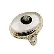 Art Deco Rock Crystal Ring