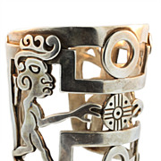 Vintage Taxco Mexican Silver Bracelet