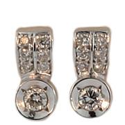 """18KT White Gold """"F-G"""" Colour Diamond Earrings"""
