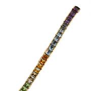 14KT  Semi Precious Gem Stone Rainbow Bracelet