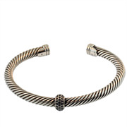 David Yurman Silver Pave Bracelet