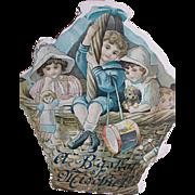 "Raphael Tuck Picture Book  A Basket of Mischief Children Book  8"" X & 7"""