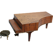 Antique Wood  Grand Piano Music box  Doll size  Beautiful wood  Play a Waltz with Small ...