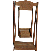 Dollhouse Miniature  wooden Swing With Seat