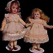 SOLD Pair Of German Miniature Dolls