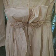 "Vintage BRIDE  Ivory 1930s Womens Wedding Dress Gorgeous sz small 24"" waist"