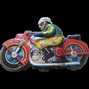 Vintage Tin Motorcycle Toy ~ Japan