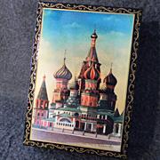 Signed Russian Enameled Dresser Box