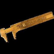 SOLD All Brass West Germany Caliper & Vintage Lufkin Carpenter's Caliper