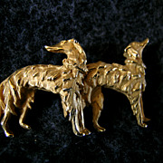 Borzoi or Russian Wolfhound Pin or Broach