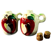 Purinton Pottery Apple Salt & Pepper Shakers