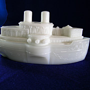 Westmoreland Glass USS Battleship Maine Candy Dish