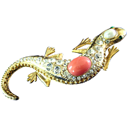 Jackie  Orr Designer Collection Salamander Brooch