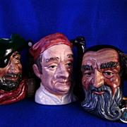 Three Royal Doulton Toby Mugs ..Merlin..  Bootmaker.. & Smuggler