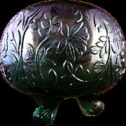 Westmoreland Glass Louisa Green Rose Bowl