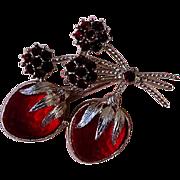 Lovely Strawberry Brooch