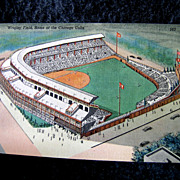 """Vintage 1939 Wrigley Field """"Home of the Cubs"""" Post Card"""