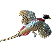 Beautiful Pheasant Brooch or Broach