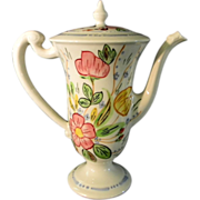 Blue Ridge Southern Potteries Chocolate Pot Rose Marie Pattern