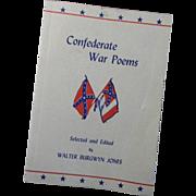 Confederate Civil War Poems Booklet