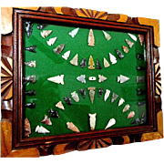 Beautiful Framed Display of Contemporary  Arrow Heads