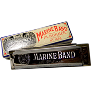 Hohner Marine Band Harmonica key of F with Original Box