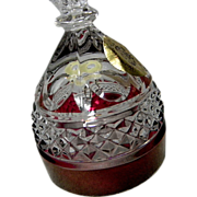 Goebel Lead Crystal Ruby Collectable Bell