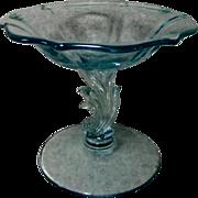 Fostoria Baroque Blue Compote or Comport