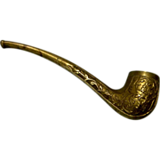 SOLD All Brass Smoking Pipe