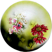 Lovely Poinsettia Cabinet Plate * R S Germany
