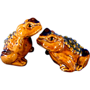 Wonderful Realistic Hoppy Toad Salt & Pepper Shakers