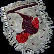 Authentic American Indian Beaded Deerskin Bag