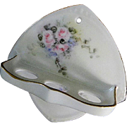 Pretty Hand Painted Ceramic Tooth Brush Holder **Made in Germany**