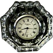 Waterford Crystal Desk or Bedside Clock