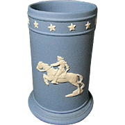 Wedgwood Soft Blue Spill Vase w/ Paul Revere