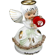 Vintage Valentine's Day Angel Figurine by NAPCO