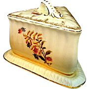 SALE Hand Painted Victorian Cheese Keeper