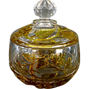 SOLD Hobbs Leaf & Flower Covered Bowl or Jar EAPG