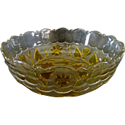 Large EAPG Fruit Bowl by Hobbs in the Leaf & Flower Pattern