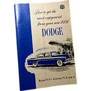 Original 1954 Dodge Owner's Manual