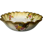 Beautiful M. Redon Limoges Hand Painted Fruit Bowl