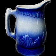 Pretty Blue & White Stoneware Pitcher