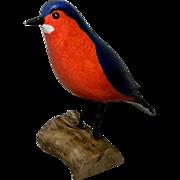 Carved Wooden Bluebird by Jim Slack