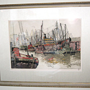 "Framed Print of ""Brooklyn Dock 15"", signed by the artist"