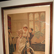 """Victorian Print Titled """"What Next"""" by Anyot"""