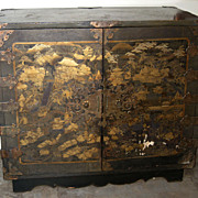 Exquisite Antique Japanese Lacquer Chest