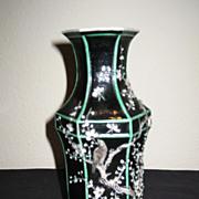 19th Century Chinese Famille Noir Vase