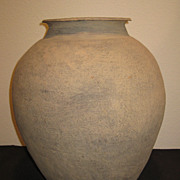 Large Chinese Warring States Pottery Jar