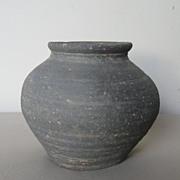 Korean Koro Coiled Pottery Jar