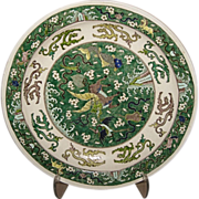 Large Chinese Famille Verte Porcelain Charger